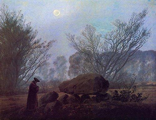 Das Museum Outlet-Spaziergang in der Abenddammerung (1837-40)-A3Poster