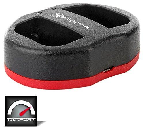 Baxxtar Twin Port 1822 - kompatibel für Akku Sony NP-FW50 - USB Dual Ladegerät - Micro-usb-dual-ladegerät