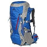 Eshow Trekkingrucksäcke Wanderrucksäcke Reiserucksack für Reisen Wandern und Bergsteigen Wasserdicht Ultraleicht 50L+5L 32*62*20 mit Regenabdeckung