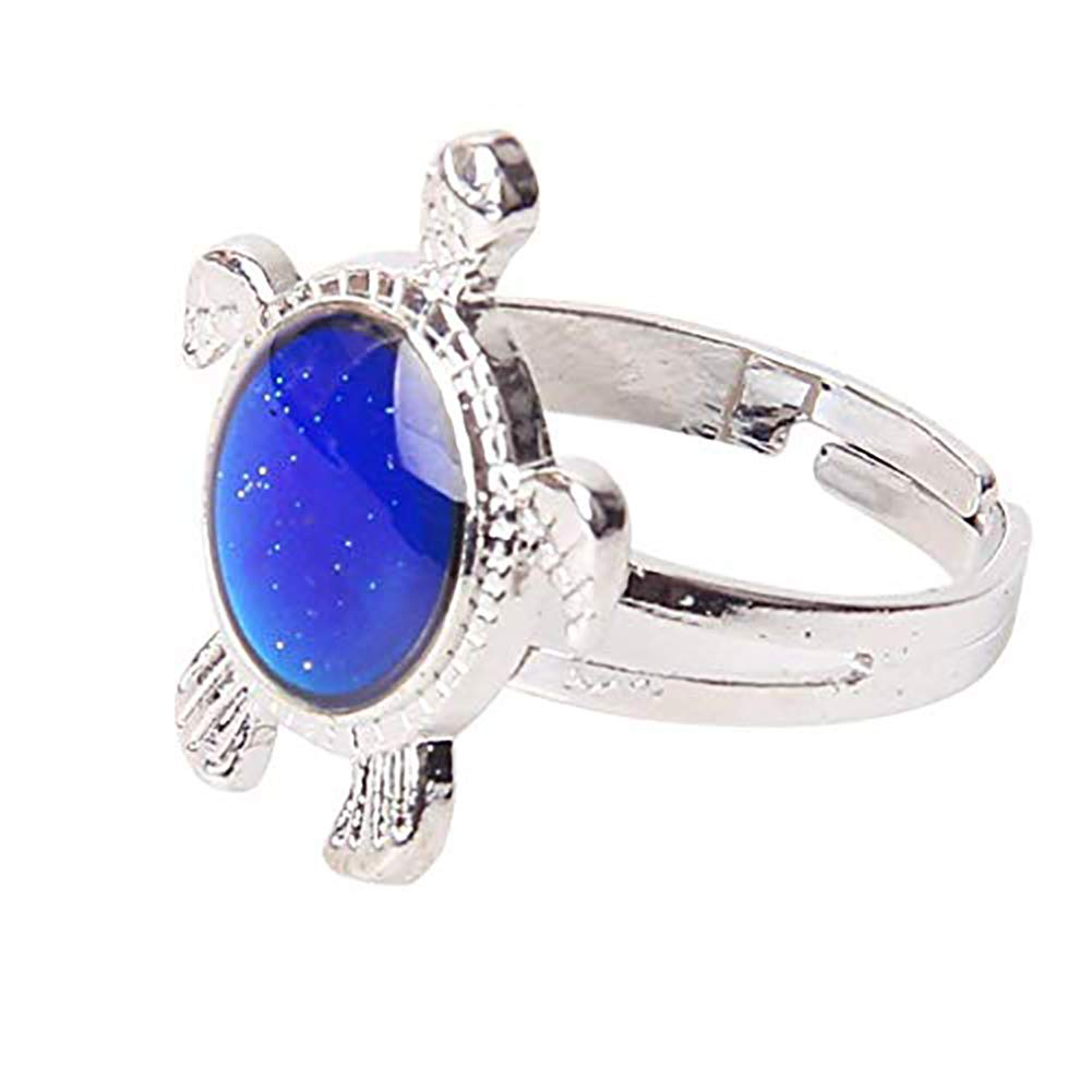 Turtle Color Change Mood Ring Adjustable (Multiple Colors) by High Quality