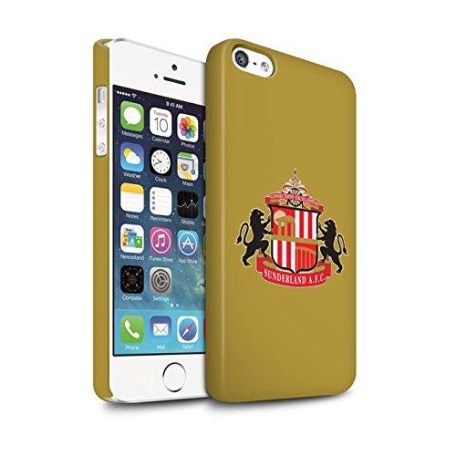 Offiziell Sunderland AFC Hülle / Matte Snap-On Case für Apple iPhone SE / Pack 6pcs Muster / SAFC Fußball Crest Kollektion Gold