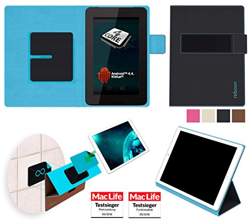 reboon Hülle für Allview Viva Q7 Life Tasche Cover Case Bumper | in Schwarz | Testsieger