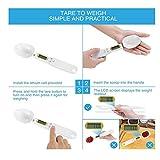 lzn 500g/0.1g Digitale Löffelwaage Küchenwaage Einstellbare, LCD-Anzeige zum Abmessen von Mehl Zucker/ Gewürze/ Milch/ Kaffee, in 4 Maßeinheiten: Unzen, Gramm, Karat, Körnung