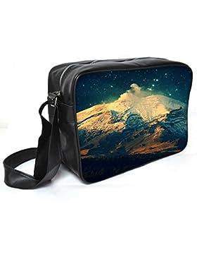Snoogg Night in the Everest Leder Unisex Messenger Bag für College Schule täglichen Gebrauch Tasche Material PU