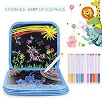 Colouring Drawing Board for Kids,HellDoler Portable Erasable Drawing Pad Toys Kids