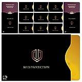 BUNDLEY RFID-Schutzhülle (10+2 Set) mit TOP DESIGN für Kreditkarte, Personalausweis, EC-Karte, Reisepass, Bankkarte   Auslese-Schutz vor Datenklau durch Funk-Chip-Blocker   Datenschutz