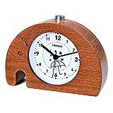 FIBISONIC-Reloj Despertador de Madera de Animales Graciosos(Elefante,2)