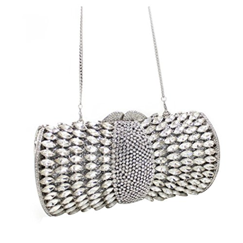 Borsa Di Lusso High-end Bag Cena Di Diamante Delle Donne Silver