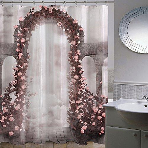 MDRW-Pastorale Hochzeit Serie Polyester Aus Bad Bad Cover - Wasserdicht Schimmel Verdickung Bad Duschvorhang W180 * H200