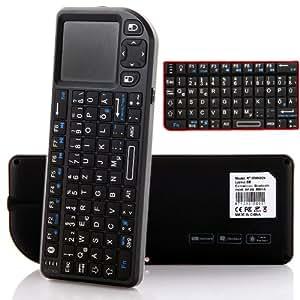 Deutsche Version Rii Mini 2.4G schnurlos Tastatur Maus-Touchpad Mit Maus& Touchpad& Laser Presenter (deutsches Tastaturlayout)