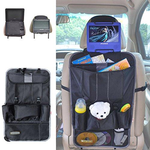TFY Auto Reiseset Rücksitzorganisator Aufbewahrungssystem und Kopfstützenhalterung für Portable DVD Player
