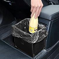 YLucky Collapsible Car Storage Bag Storage Box Car Leakproof Hanging Trash Bag Waste Bin for Mobile Phone Data Line Earplugs size 22 * 22 * 14.5cm Black