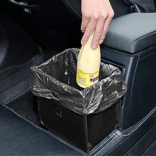 Auto Abfall Mülleimernbox Mülleimer Abfalltasche Papierkorb faltbar Oxford Autotasche Kofferraumtasche Aufbewahrung für unterwegs Schwarz