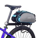 NiceButy Multifunktionale Fahrradträger-Tasche hinten große Kapazitäts-Fahrrad-Pack-Bike Seat Heck Packet Schultertasche Handtasche Tägliche Stuff Organizer Blau Cargo-Bag 13L Gepäck