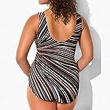 NPRADLA 2018 Damenmode Plus Größe Gepolsterter Badeanzug Monokini Push Up Strand Einteiliger Bikini(Schwarz,XXXL)