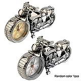 ToGames-DE Motorrad Motorrad Muster Wecker Kreative Heimat Geburtstagsgeschenk Coole Uhr