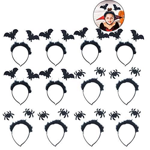 Joyibay 12 stÜcke Halloween Stirnband Mode Fledermaus Spinne Party Stirnband Haarband für Kinder