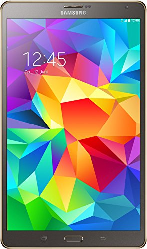 Samsung Galaxy Tab S 21,34 cm (8,4 Zoll) LTE Tablet-PC (Quad-Core, 1,9GHz, 3GB RAM, 16GB interner Speicher, Android) titanium/bronze