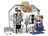 Feber 800007724 - Pappspielhaus zum Bemalen