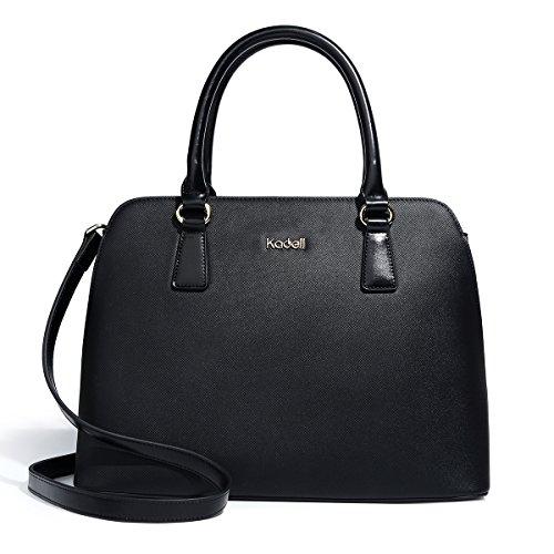 Kadell Frauen PU Leder Designer Handtaschen Geldbörse Damen Top Griff Tote Satchel Schwarz (Leder-frauen-handtaschen)