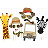 Party Propz Jungle Theme Photobooth Prop (8 Pieces)