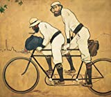 OcherArt - Ramon Casas : On a Tandem Bicycle- Vintage Poster, Canvas print
