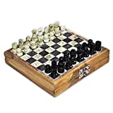 "Dungricraft 8"" X 8? Collectible Wooden Chess Game Board Crafted Pieces"