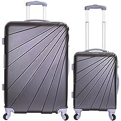 Slimbridge Valise Rigide à roulettes pivotantes de qualité supérieure avec Serrure intégrée - Ensemble Lot de 2 valises rigides pièces, Fusion Graphite