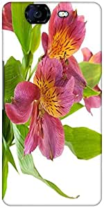 Snoogg Alstroemeria Flowers Designer Protective Back Case Cover For Micromax Canvas Knight A350
