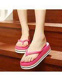 sommer - sandalen sandalen sind frauen am hang mit dicken unteren plattform flip - flops pinch pantoffeln