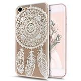 LINCIVIUS  Coque Iphone 8, Housse Iphone 8 4.7 Etui Transparent Silicone Mandala...