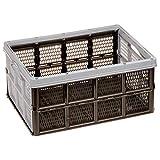 AUFBEWAHRUNGSBOX ORGANIZER 3 Stück von 4smile ǀ Kunststoffbox Autobox faltbar und platzsparend ǀ Inhalt 32 l ǀ stabile und geräumige Klappbox ǀ Farbe: Pastell Grau