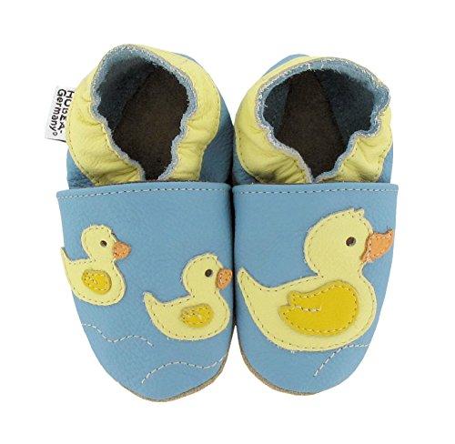 Kinderschuhe in verschiedenen Farben und Design mit Tieren von HOBEA-Germany Entenfamilie