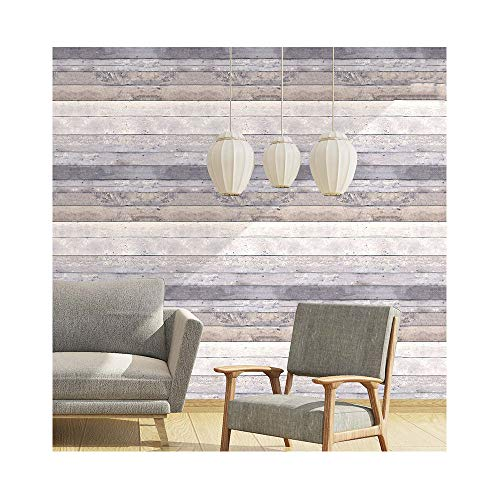 Vintage Holz Tapete Shiplap Vinyl Holz Plank Tapete wasserdicht Retro Home Decor Holzmaserung Wand Dekor,Gray80076 -