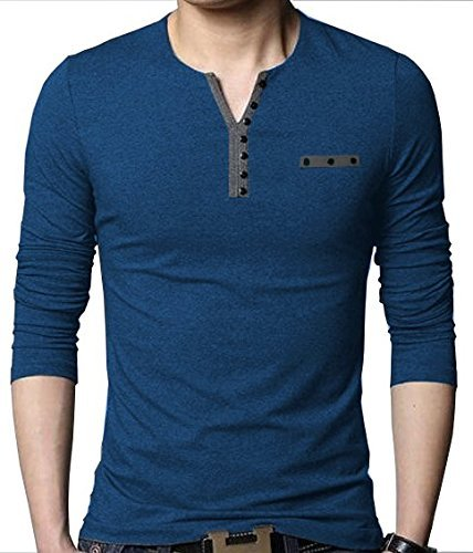 EYEBOGLER Regular Fit Men's Cotton T-Shirt (XL-T3-NM, Navy Melange, X-Large)