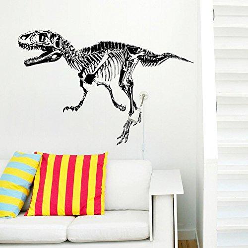Wallpark Creativo Fósil de Dinosaurio Silueta Desmontable Pegatinas de Pared Etiqueta de la Pared, Sala Dormitorio Hogar Decorativas Adhesivas DIY Arte Murales
