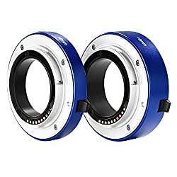 Neewer® All-metal Auto-focus Macro Extension Tube Set 10mm&16mm For Sony E-mount Mirrorless Camera Nex 33n55n5ra6000a6300 & Full Frame A7 A7sa7sii A7ra7rii A7ii Blue