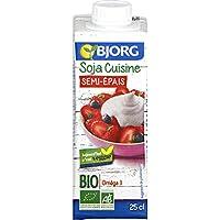 Bjorg - Soja Cuisine semi-épais bio - La brique de 250ml - Pirx Unitaire - Livraison Gratuit Sous 3 Jours