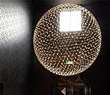 LUCKY CLOVER-A Globo negro moderno estilo de la bola del techo colgante de luz de la...