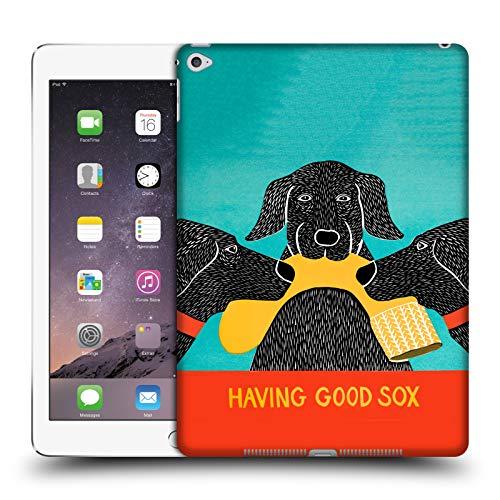 Head Case Designs Offizielle Stephen Huneck Haben Guter Socken Hund-Gruppe Harte Rueckseiten Huelle kompatibel mit iPad Air 2 (2014) -