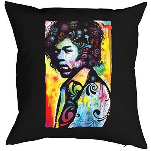 n Jimi Hendrix Sofakissen Geschenk Kissen 40 x 40 cm geil bedruckt ()