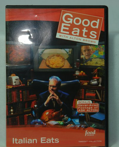 Food Network Takeout Collection DVD - Good Eats With Alton Brown - Italian Eats Includes Seeing Red / Flat is Beautiful Pizza / Seeing Red / Use Your Noodle 2 Ravioli Food Network-pizza