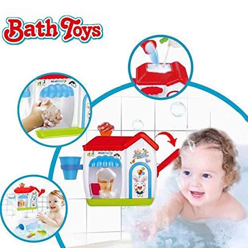 Wishtime schiuma cono fabbrica bagno giocattolo schiuma cono fabbrica finta gelati macchina vasca da bagno acqua giocattoli per bambino (senza batterie richiesto e colore in casuale)