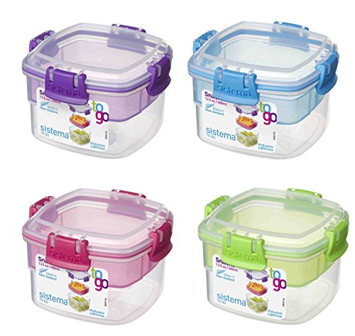 Sistema Snack to go, 13.5 oz/400 ml, 2 fach Container
