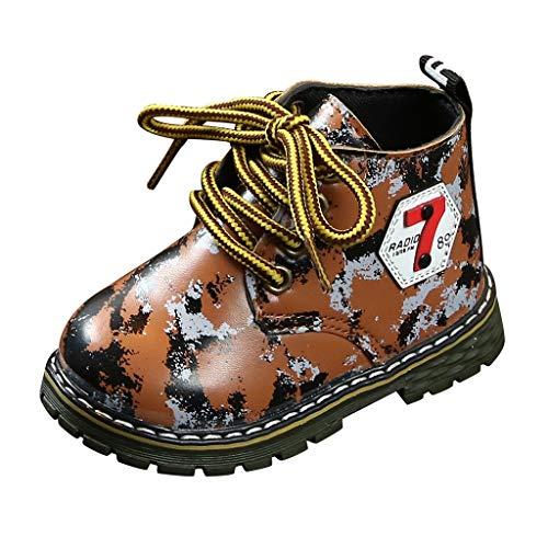 Rokoy Stivali Bambina Natale - Boots Combat Premium Waterproof Antiscivolo - Scarpe da Escursionismo Unisex - Bambini Trekking Stivali da Neve Scarpe da Cotone