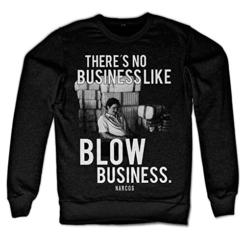 narcos–Blow Business Hombres sudadera (Black) negro Small