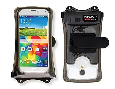 Spice Mobile Coolpad 2 / Spice Mobile Dream UNO 498H / Spice Mobile N-300 - Étui étanche smartphone / Boîtier étanche / Pochette pour téléphone étanche par DiCAPac - avec système de montage GoPro® compatible