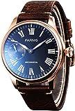 PARNIS 2145Reloj de hombre mecánico cuerda manual acero inoxidable dorado Pulsera de reloj...