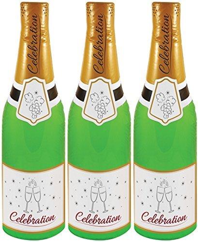(3er Pack) 73cm aufblasbar Champagner Flaschen Party Dekoration Foto Requisite
