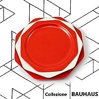 cartaffini – Colección Bauhaus – Plaza Tabla Rojo – 3 platos ventanas difusoras ...